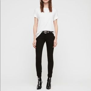 New with tags All saints Mast skinny jeans size 30